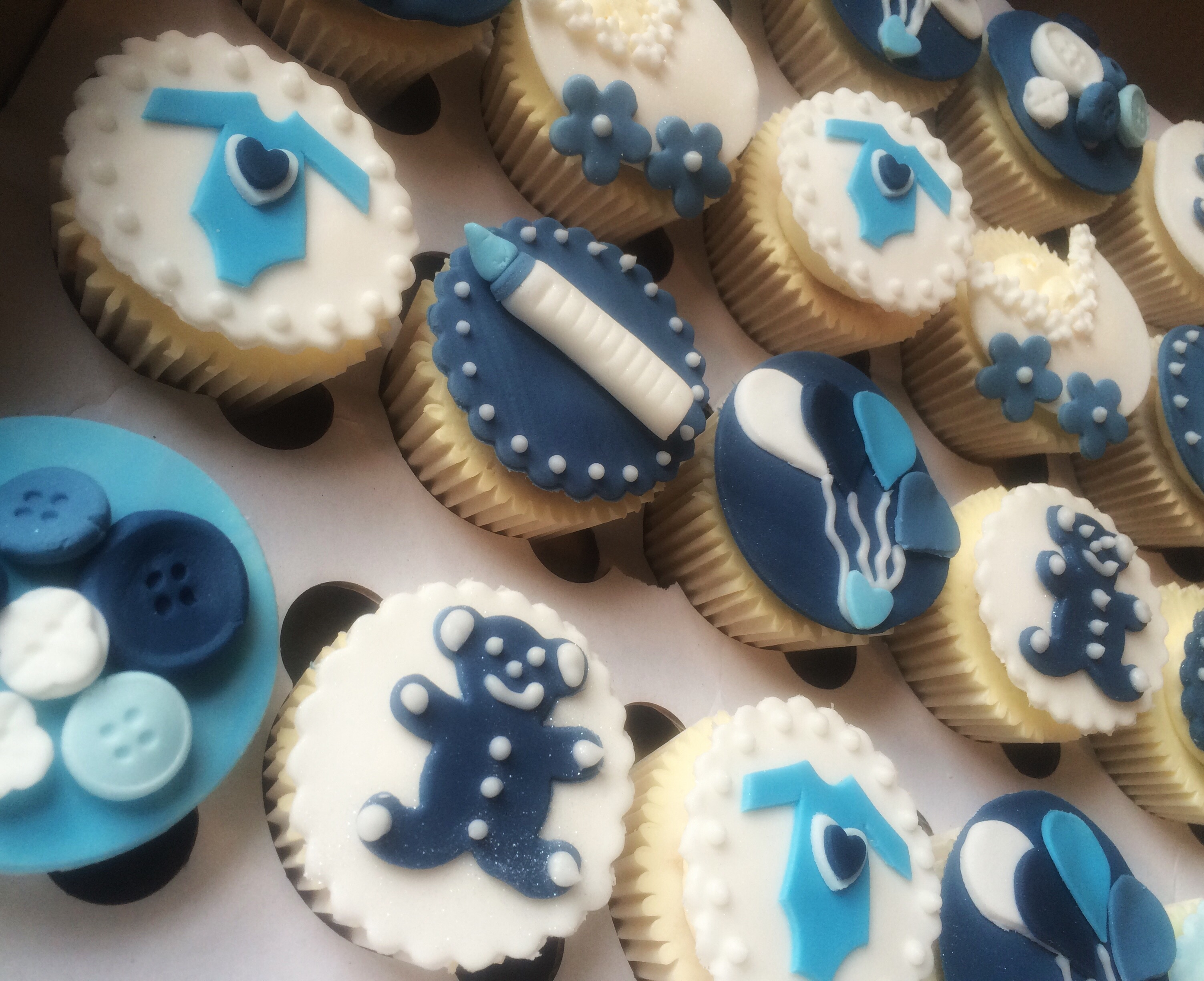Baby Shower Cakes East Kilbride ~ Baby boy cupcakes by lizzie u cakes by lizzie edinburgh