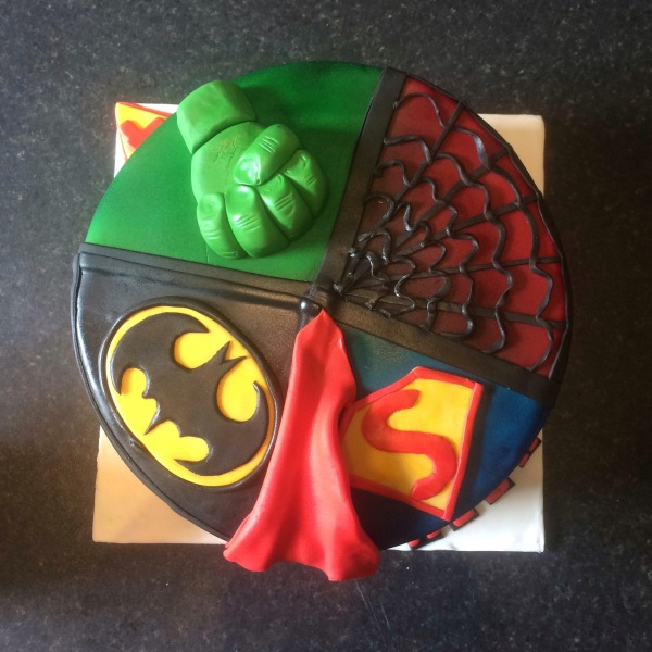 Superhero Cake by Lizzie