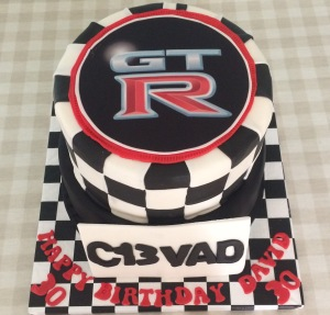 Sports Car Themed Cake by Lizzie