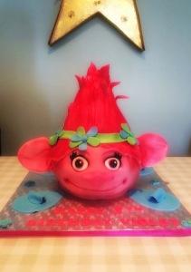 Princess Poppy Trolls Cake by Lizzie